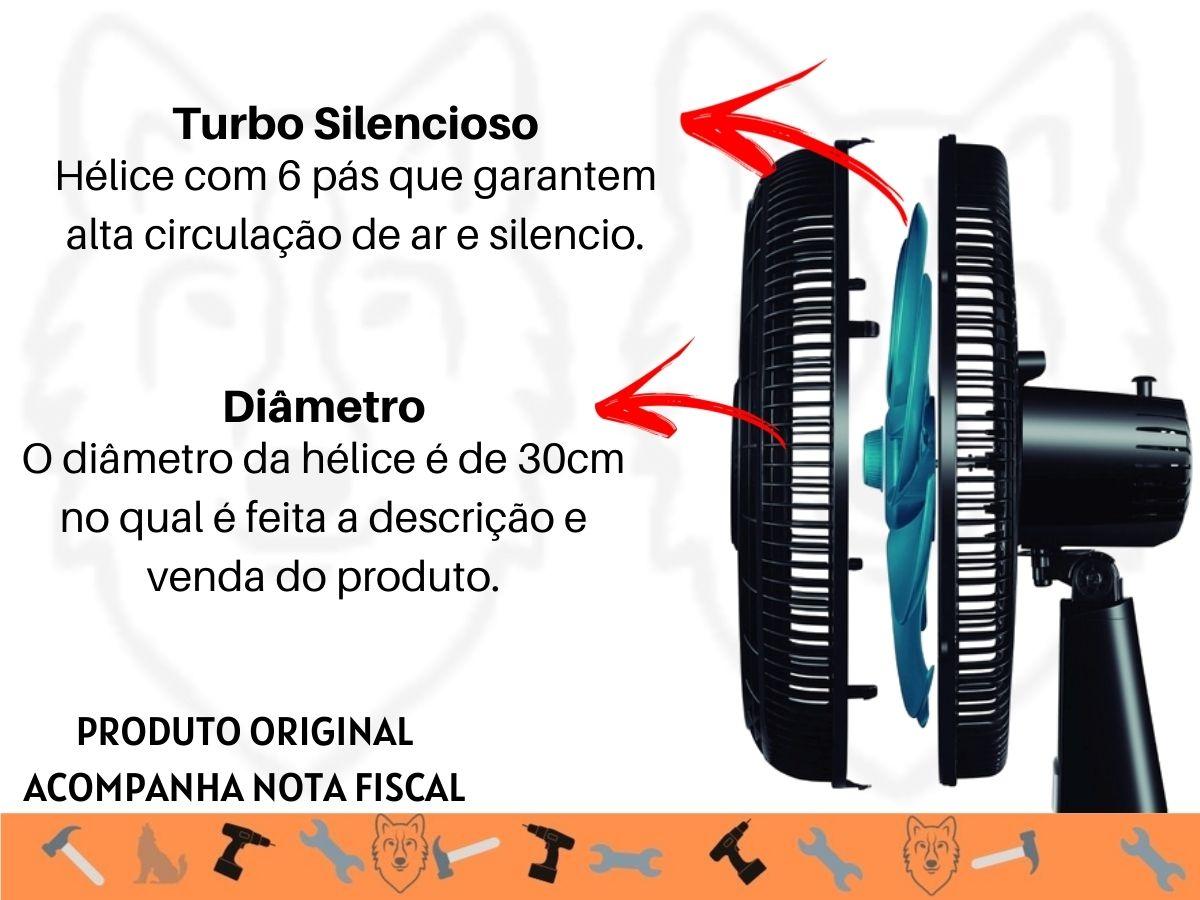 Ventilador De Mesa 30cm Mondial V-81 50w Turbo