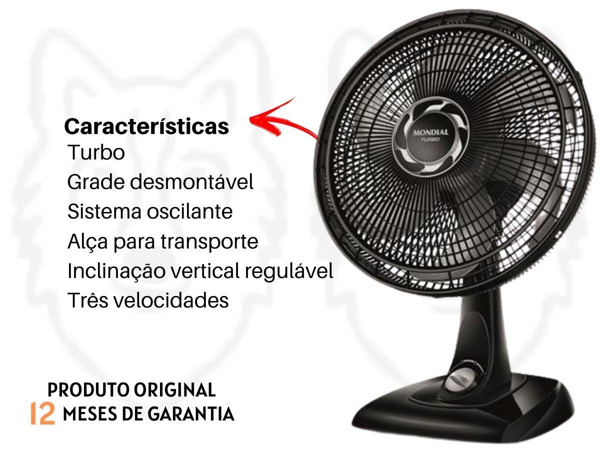 Ventilador De Mesa 40cm Mondial VT-40 140w Turbo Silencioso