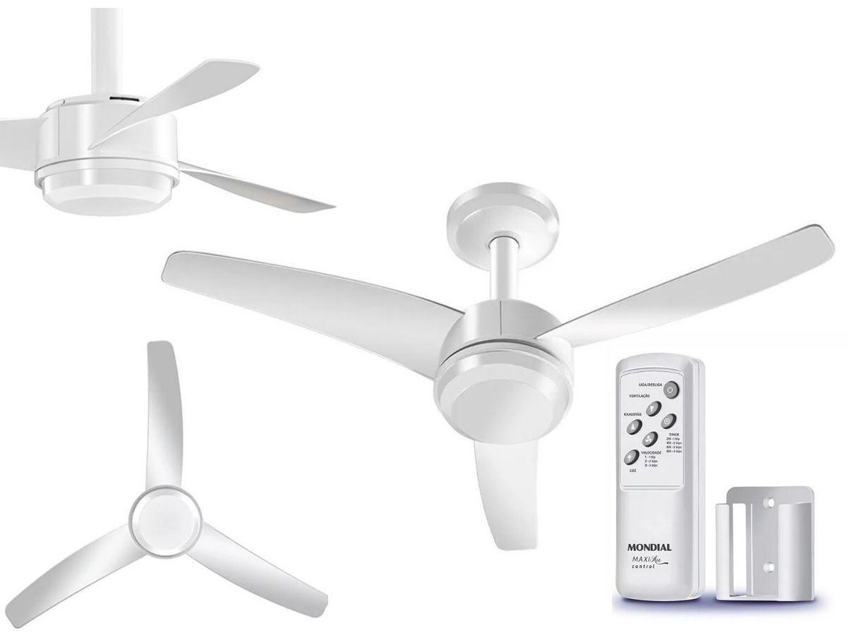Ventilador De Teto 103cm Mondial VTE-02 Maxi Air Com Controle Remoto Branco