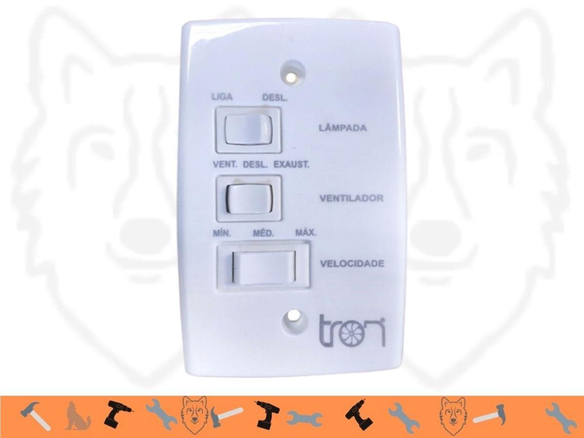 Ventilador De Teto 98cm Tron Marbela 1089 130w Branco 3 Velocidades