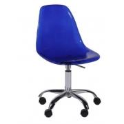 Cadeira Eames Policarbonato Rodízio Or Design