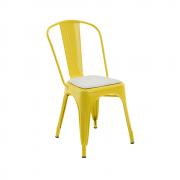 Cadeira Iron Com Almofada Branca Rivatti