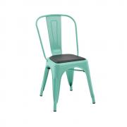 Cadeira Iron Vintage Com Almofada Preta Rivatti