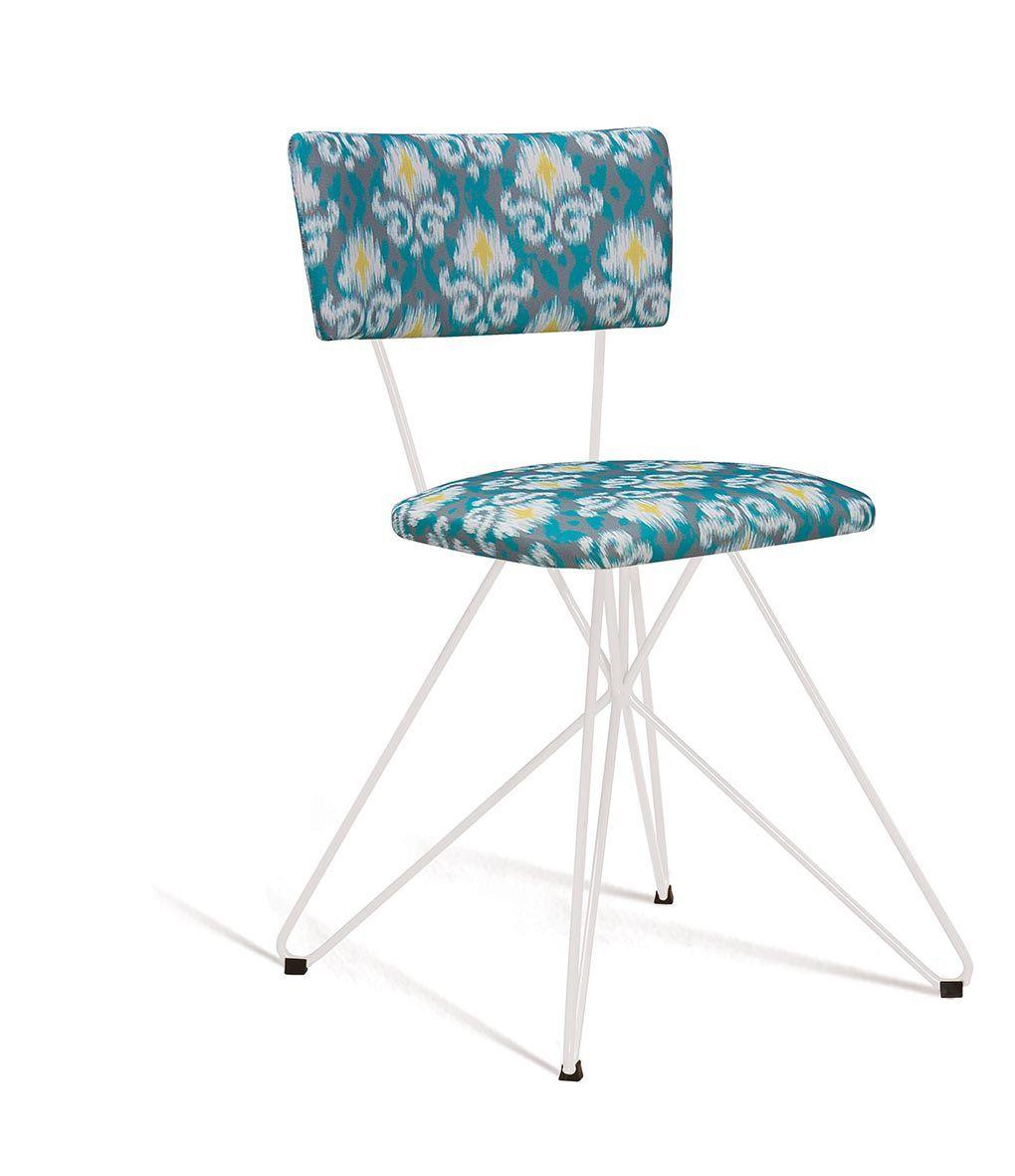 Cadeira Butterfly Estofada Cinza/verde DAF