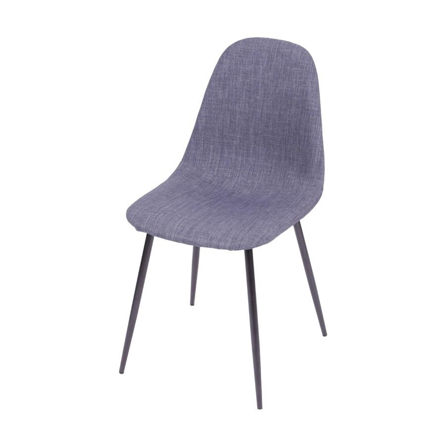 Cadeira Charla Linho Base Preta Or Design