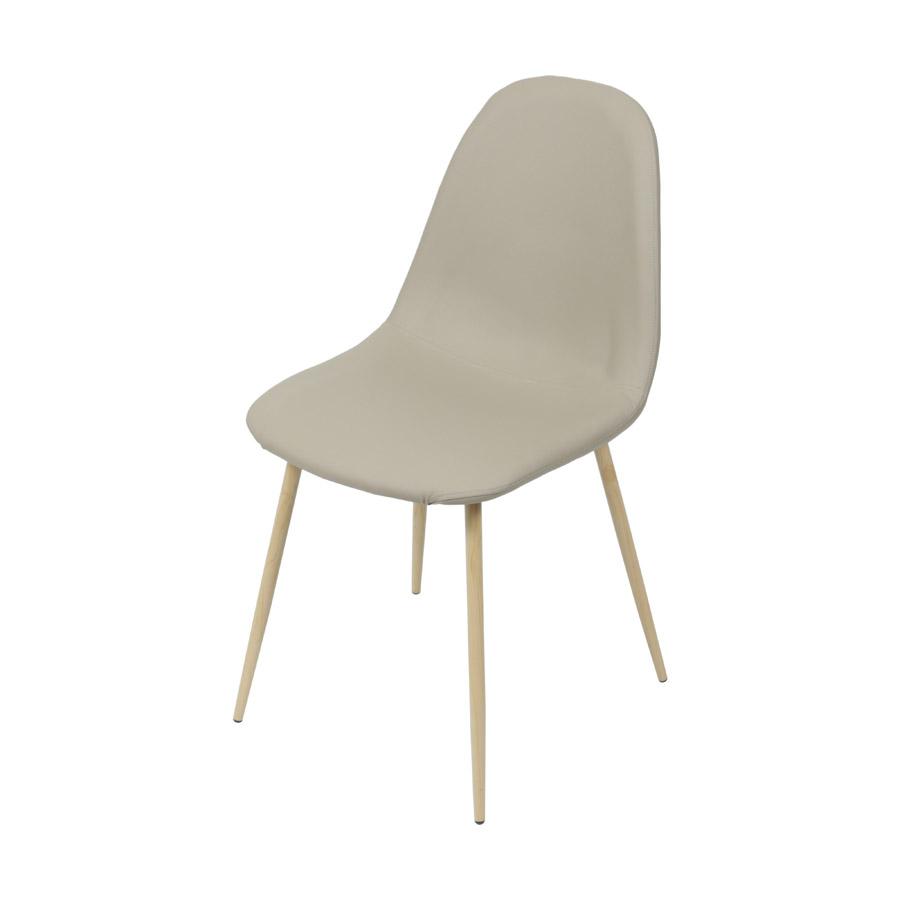 Cadeira Charla PU Base Madeira Or Design