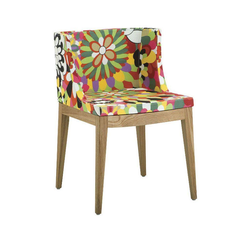 Cadeira Christie Estampas Floral  Base Madeira Clara Rivatti