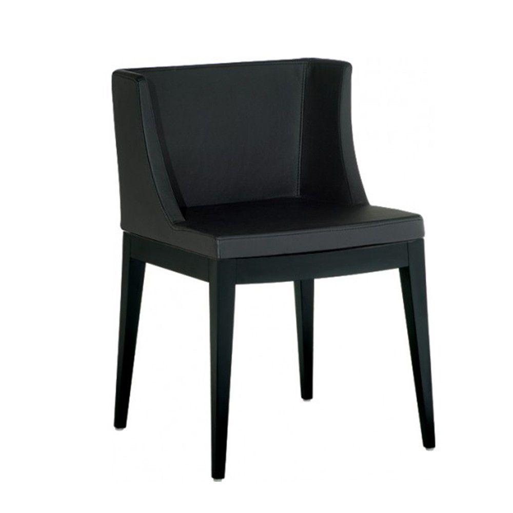 Cadeira Christie PU Base Madeira Escura Rivatti