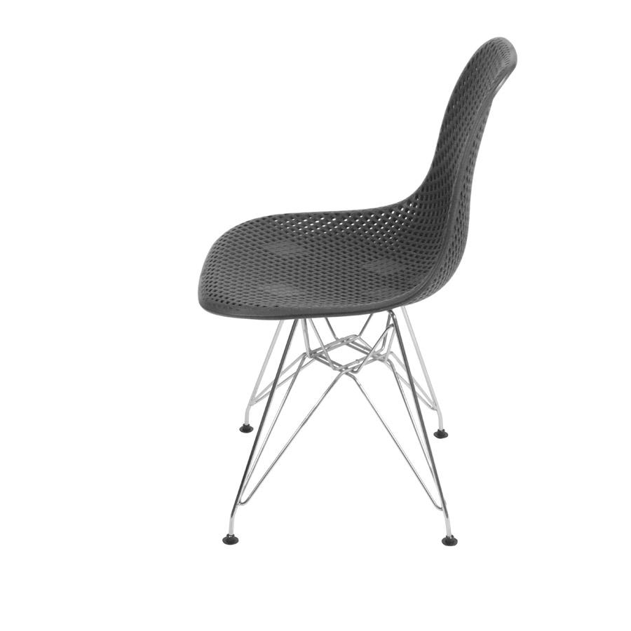 Cadeira Colmeia Base Cromada Or Design