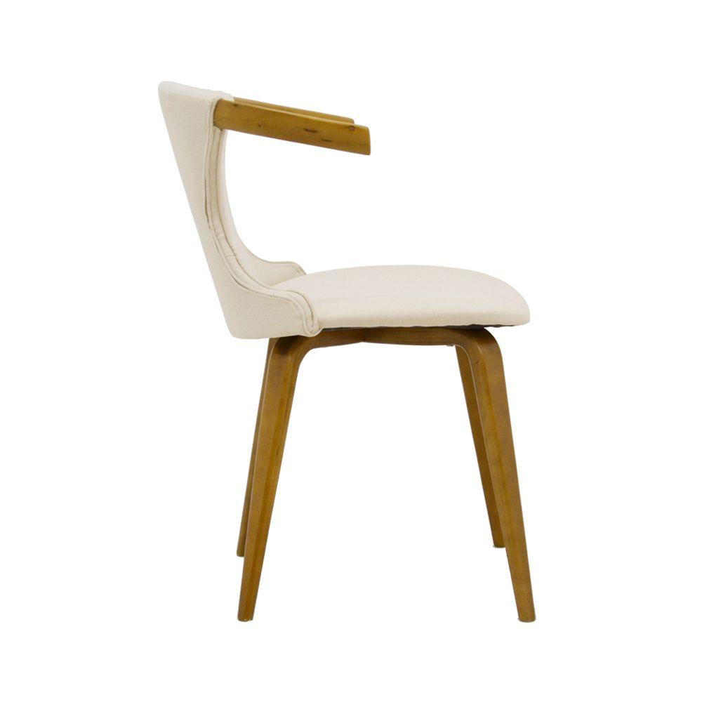 Cadeira Dalila Linho Base Madeira Rivatti