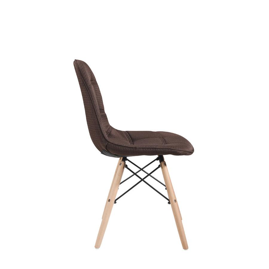 Cadeira DKR Botonê Linho Base Madeira Clara