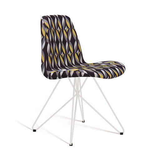 Cadeira Eames Butterfly Color Preto Tecido Suede