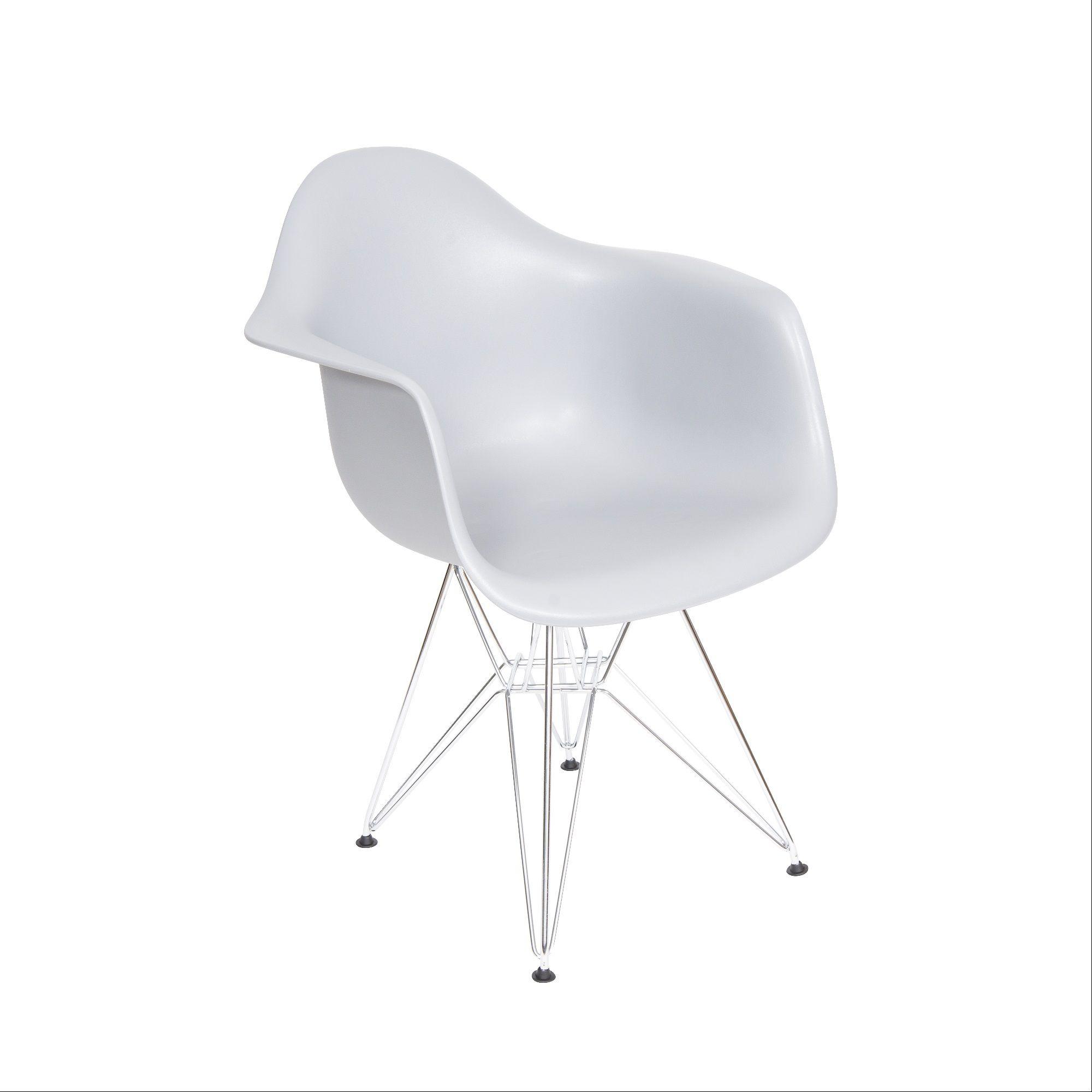 Cadeira DKR Com Braço Base Cromada Or Design