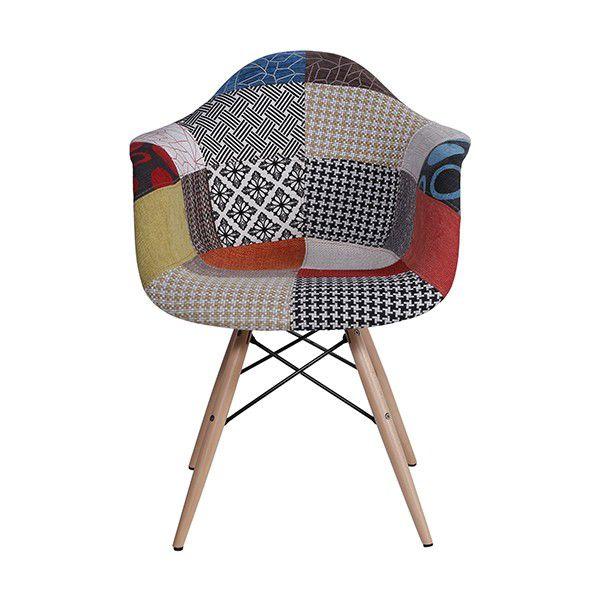 Cadeira DKR Patchwork Base Madeira Or Design