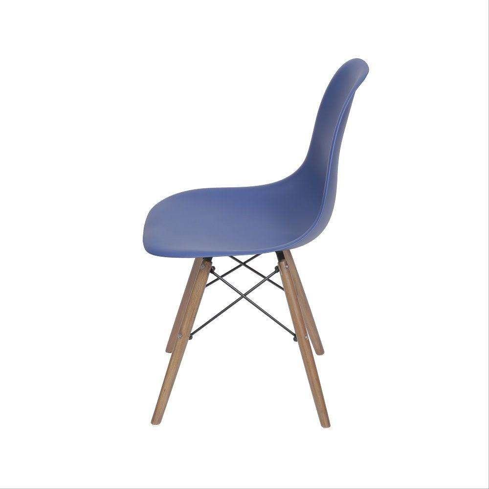 Cadeira DKR Polipropileno Base Madeira Or Design