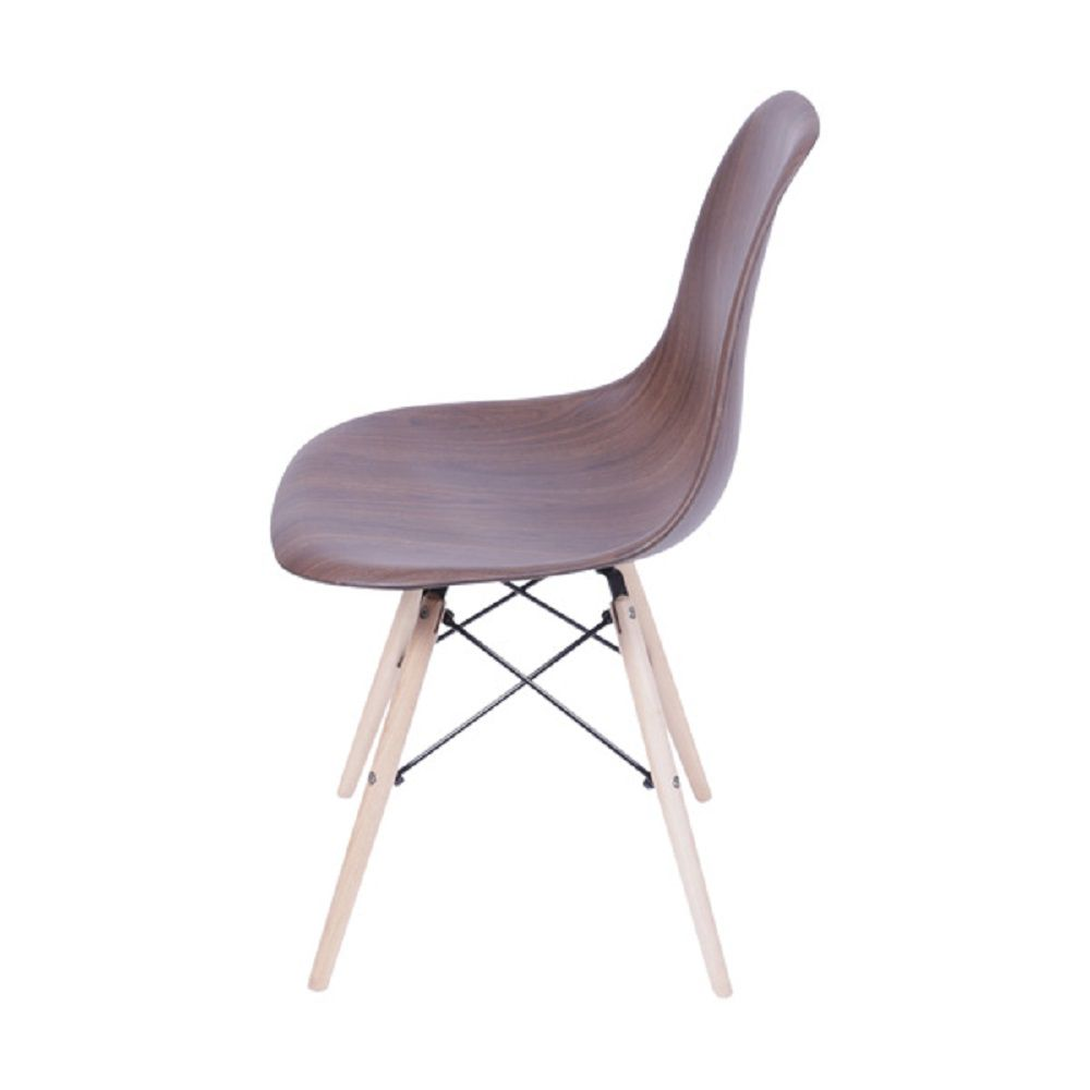 Cadeira DKR Wood Polipropileno Base Madeira Or Design