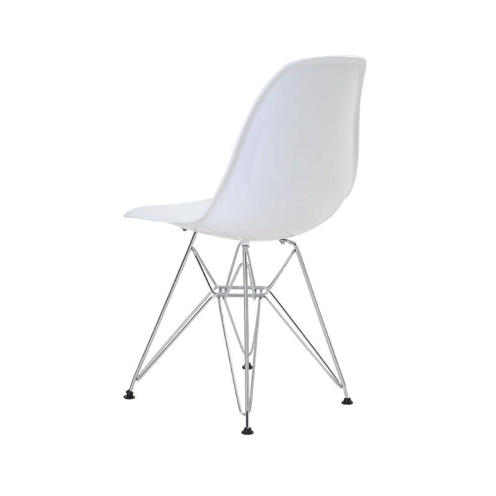 Cadeira Eiffel Policarbonato Base Cromada Rivatti