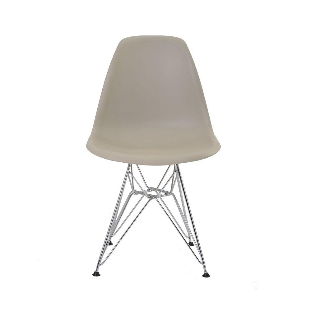 Cadeira Eiffel Polipropileno Base Cromada Rivatti
