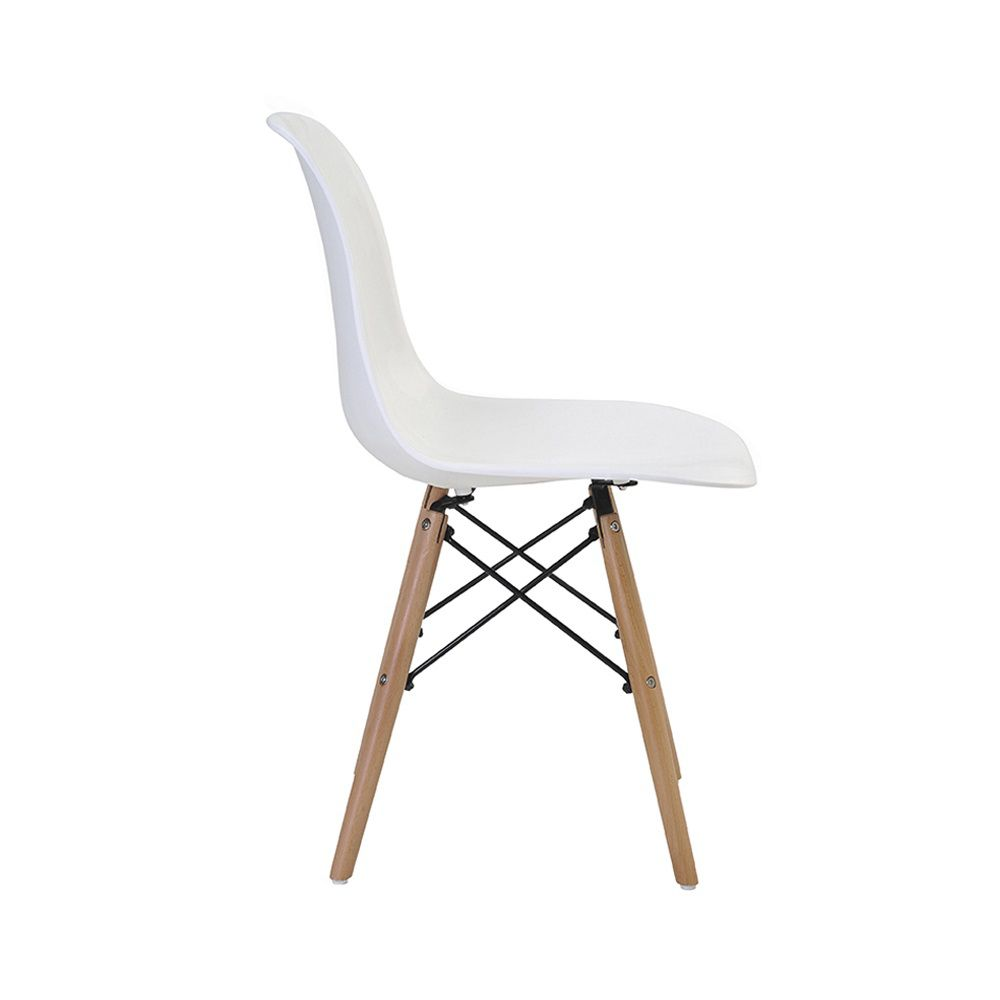 Cadeira Eiffel Polipropileno Base Madeira Rivatti