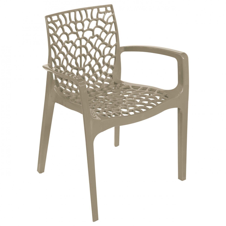 Cadeira Gruvyer Alto Brilho com Braço Or Design