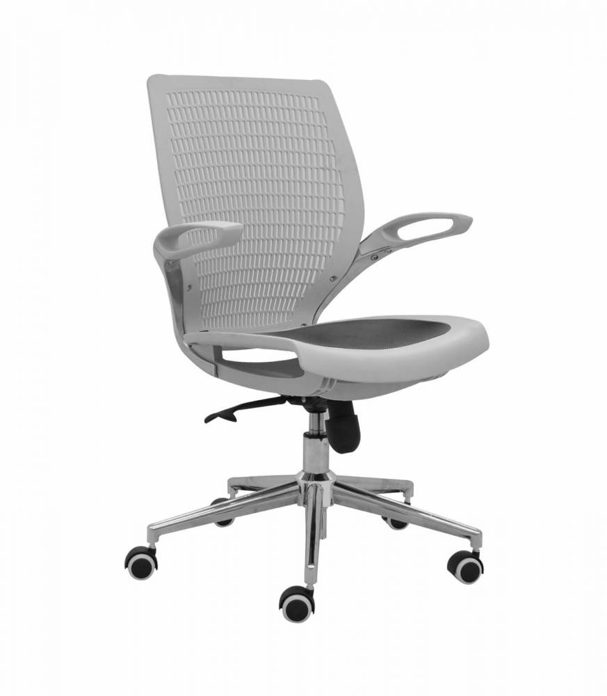 Cadeira Hera Tela Mesh Base Cromada Rivatti