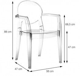 Cadeira Igloo com Braço OR-1106 Or Design
