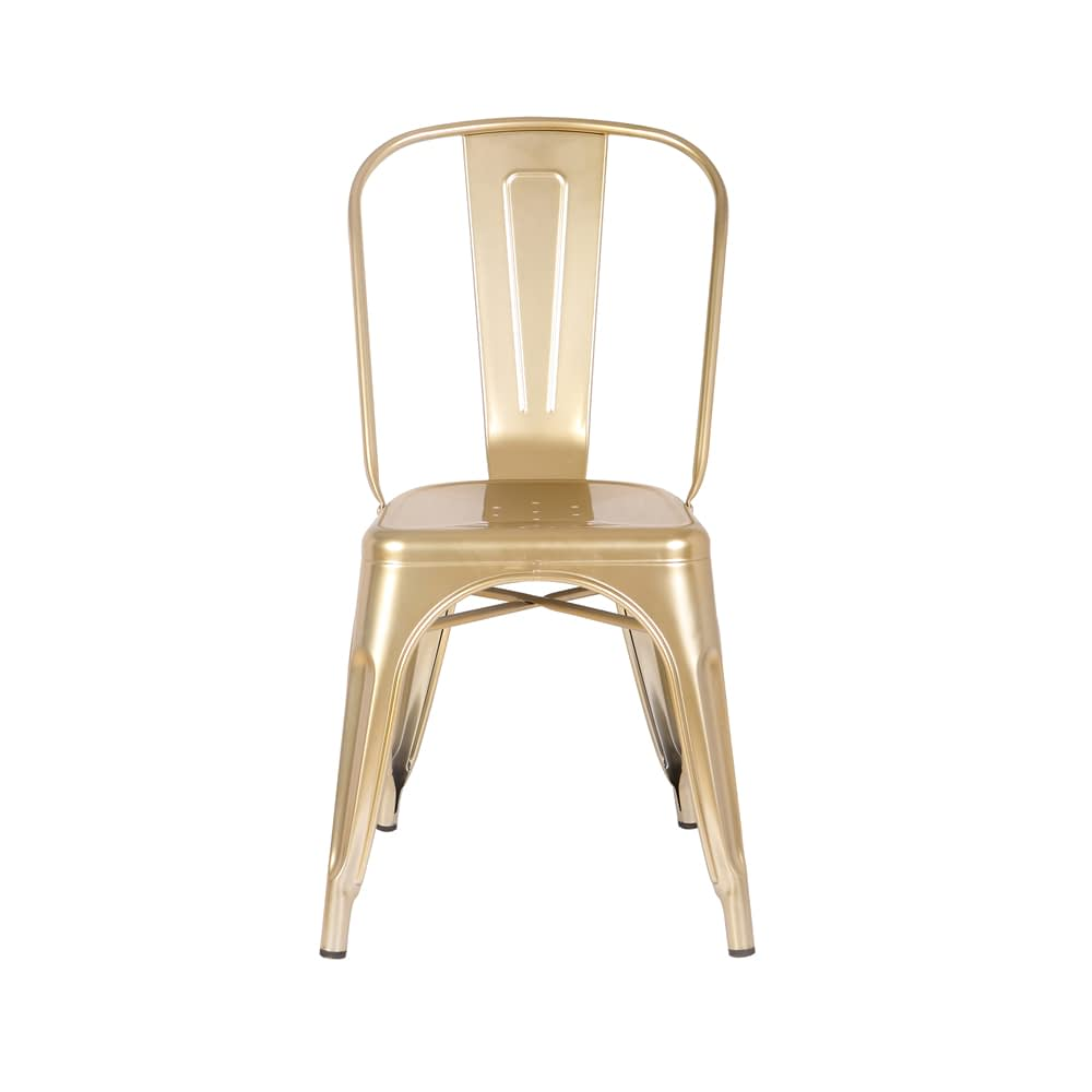 Cadeira Iron Aço Dourada Rivatti