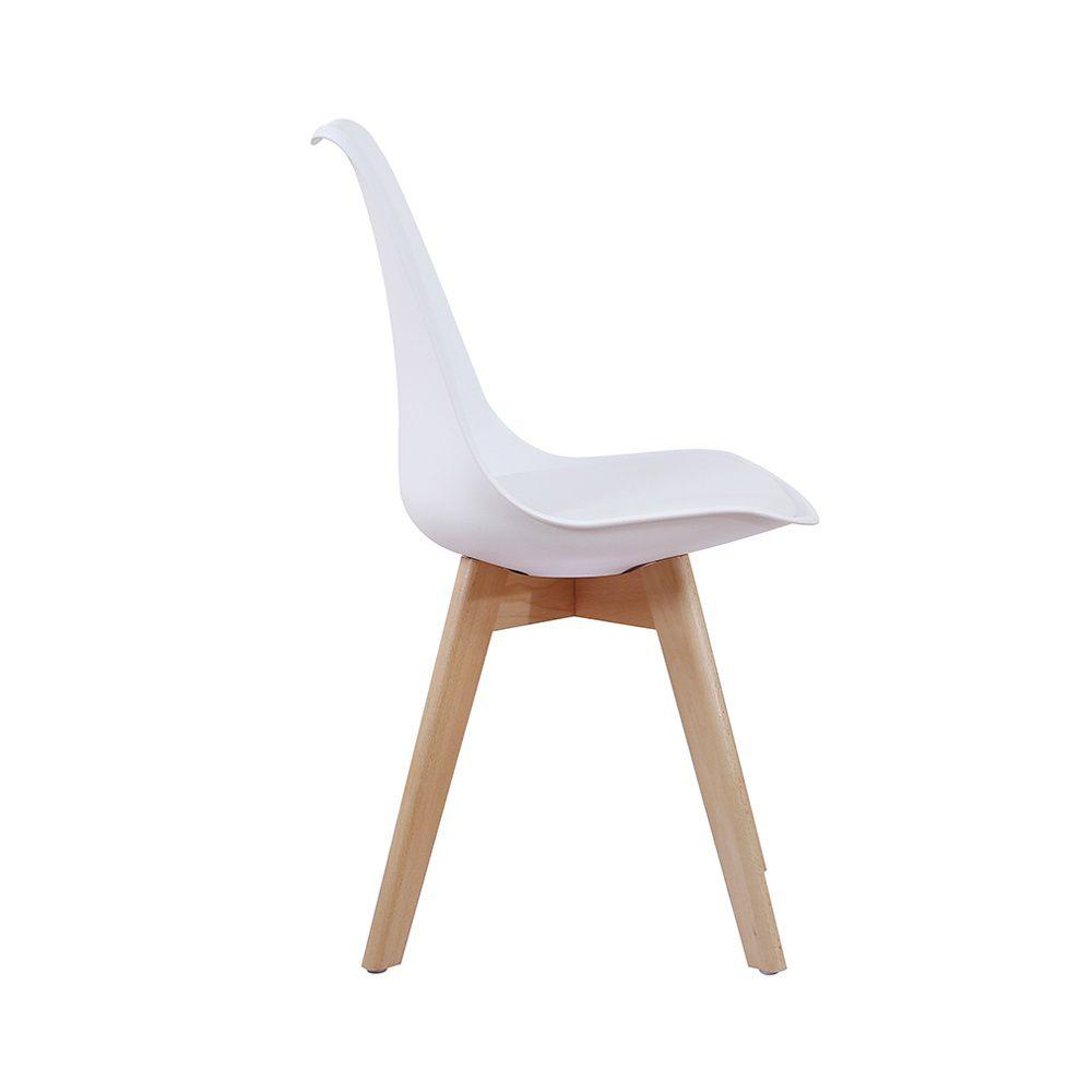 Cadeira Leda Base Madeira