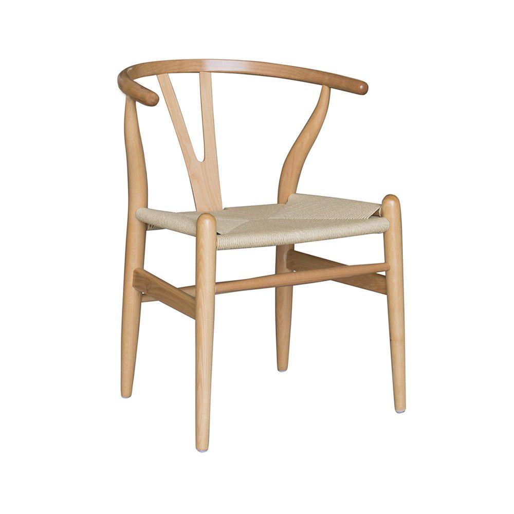 Cadeira Linha Escandinava Valentina Assento Palha Rivatti