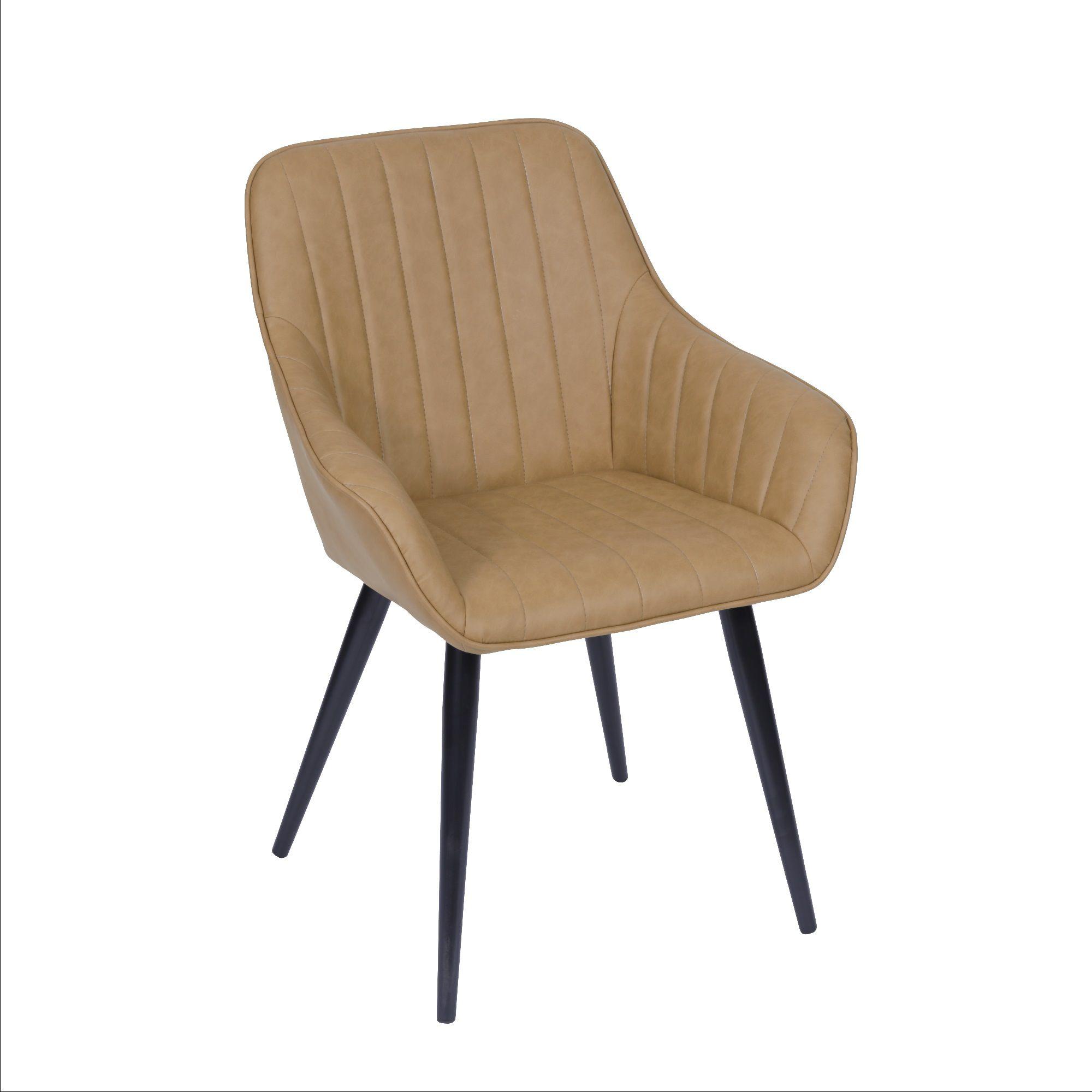Cadeira Volga Base Metal Com Braço Or Design