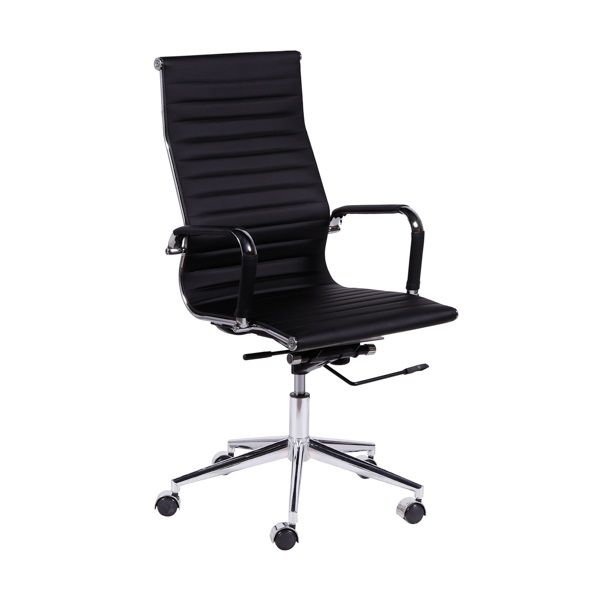Cadeira Office Esteirinha Alta PU Or Design