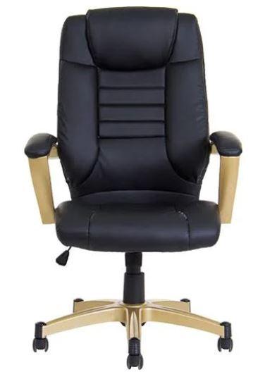 Cadeira Office Catalunha PVC PU Preto Rivatti
