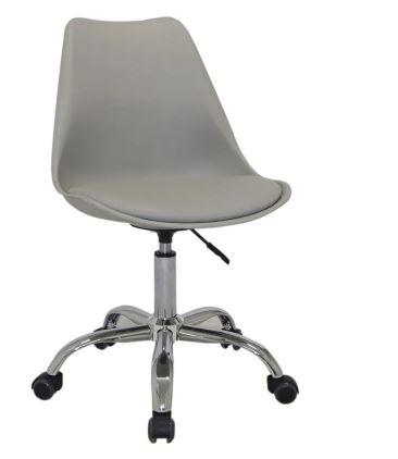 Cadeira Office Luísa Rodízio Base Cromada