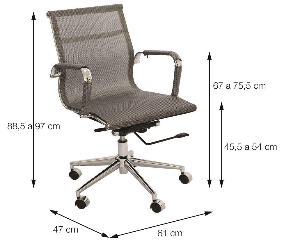Cadeira Office Tela Baixa Or Design