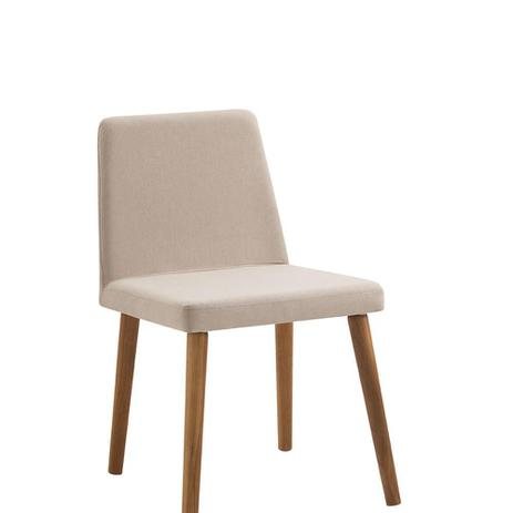 Cadeira Pri Bege Tecido Lona DAF
