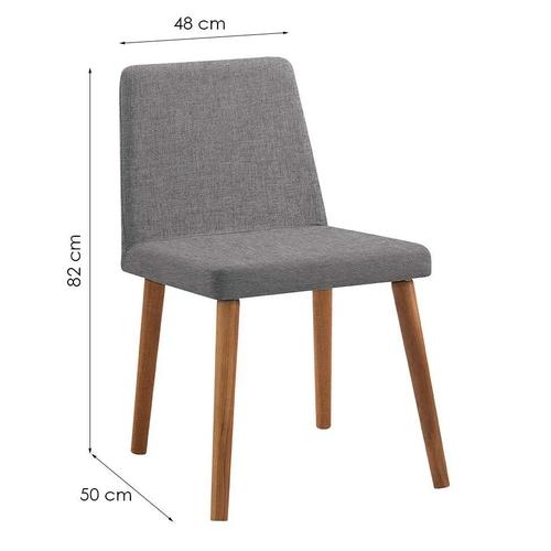 Cadeira Pri Cinza Tecido Linho DAF