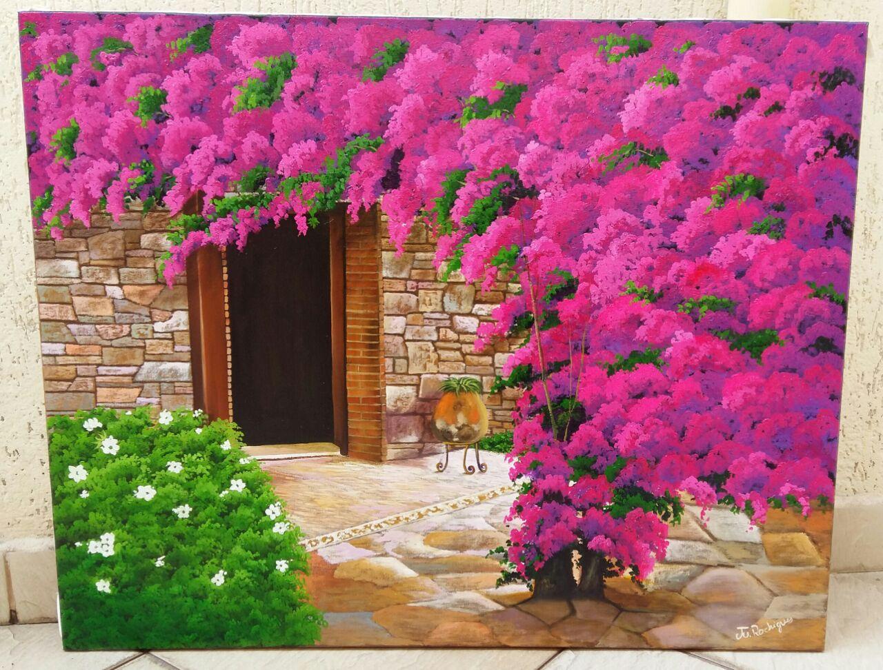 Quadro Pintado em Tela Primavera