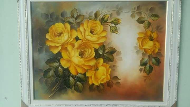 Quadro Pintado em Telas Rosas