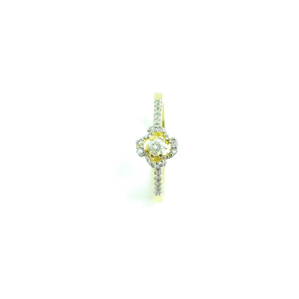 Anel Solitário em Ouro 18K - Brilhante Central de 10 Pontos