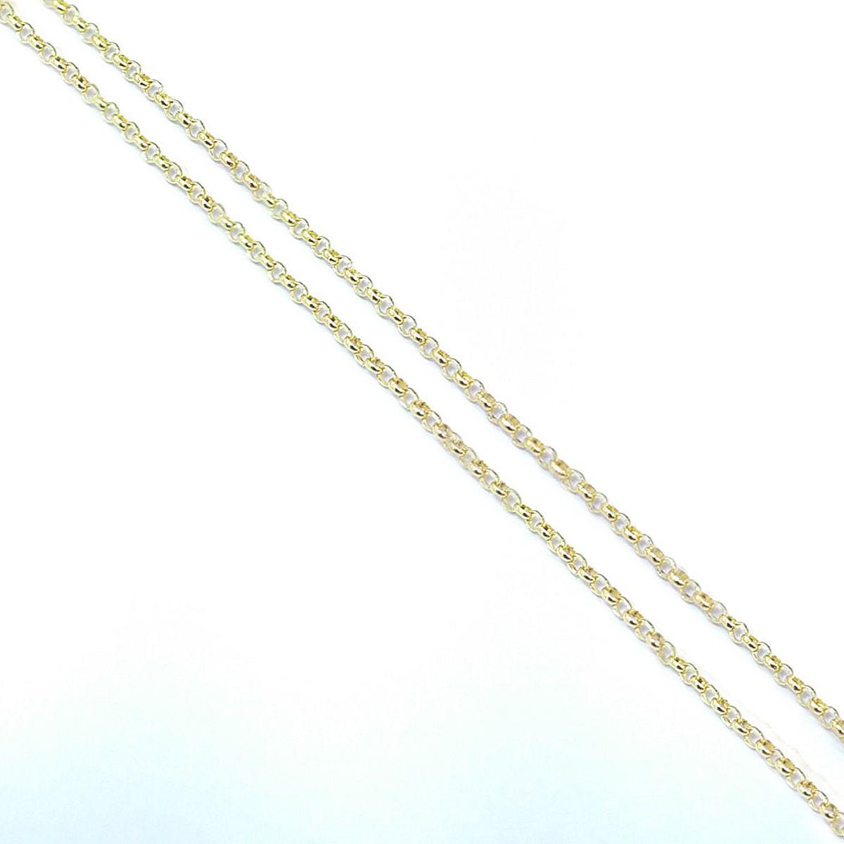 Corrente Elo Português em Ouro 18K - 50cm fina