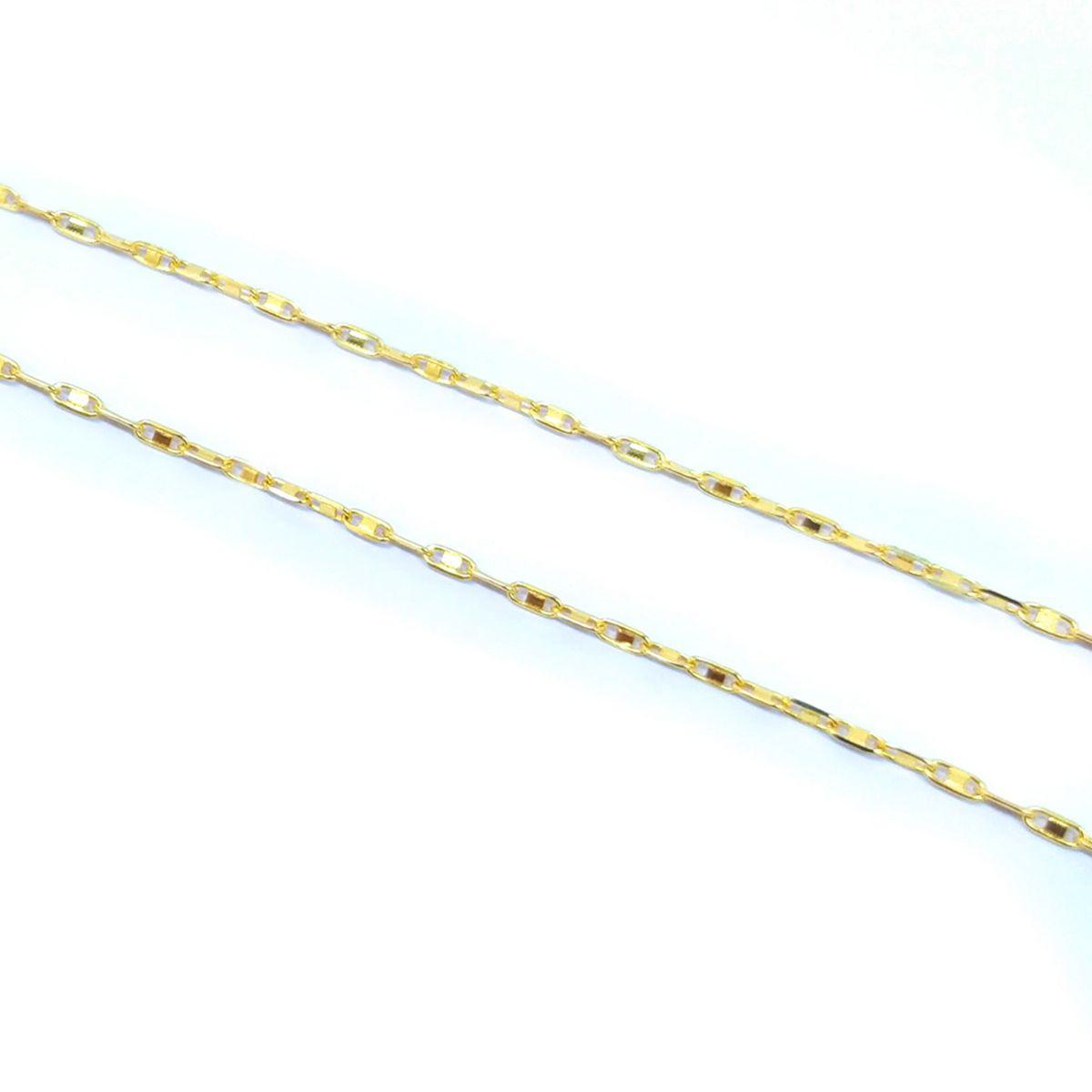 Corrente Piastrine em Ouro 18K - 50cm fina