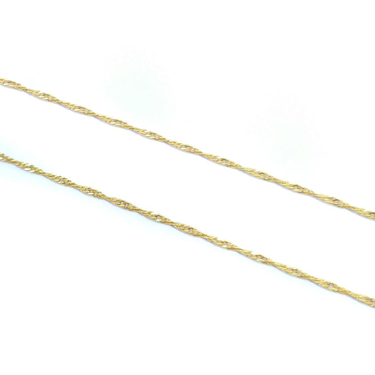 Corrente Singapura em Ouro 18K - 50cm fina