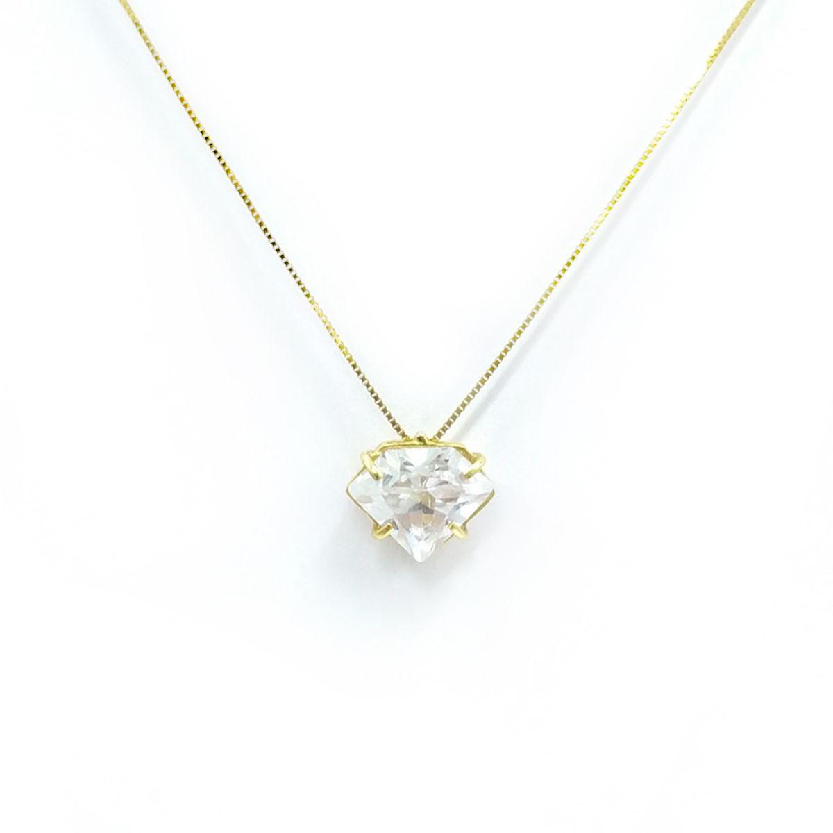 Gargantilha Diamante em Ouro 18K - Zirconia