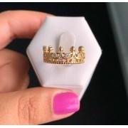 Anel Coroa Várias Zircônias