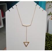 Colar Gravatinha Triângulo Vazado