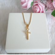 Colar Mini Crucifixo Liso