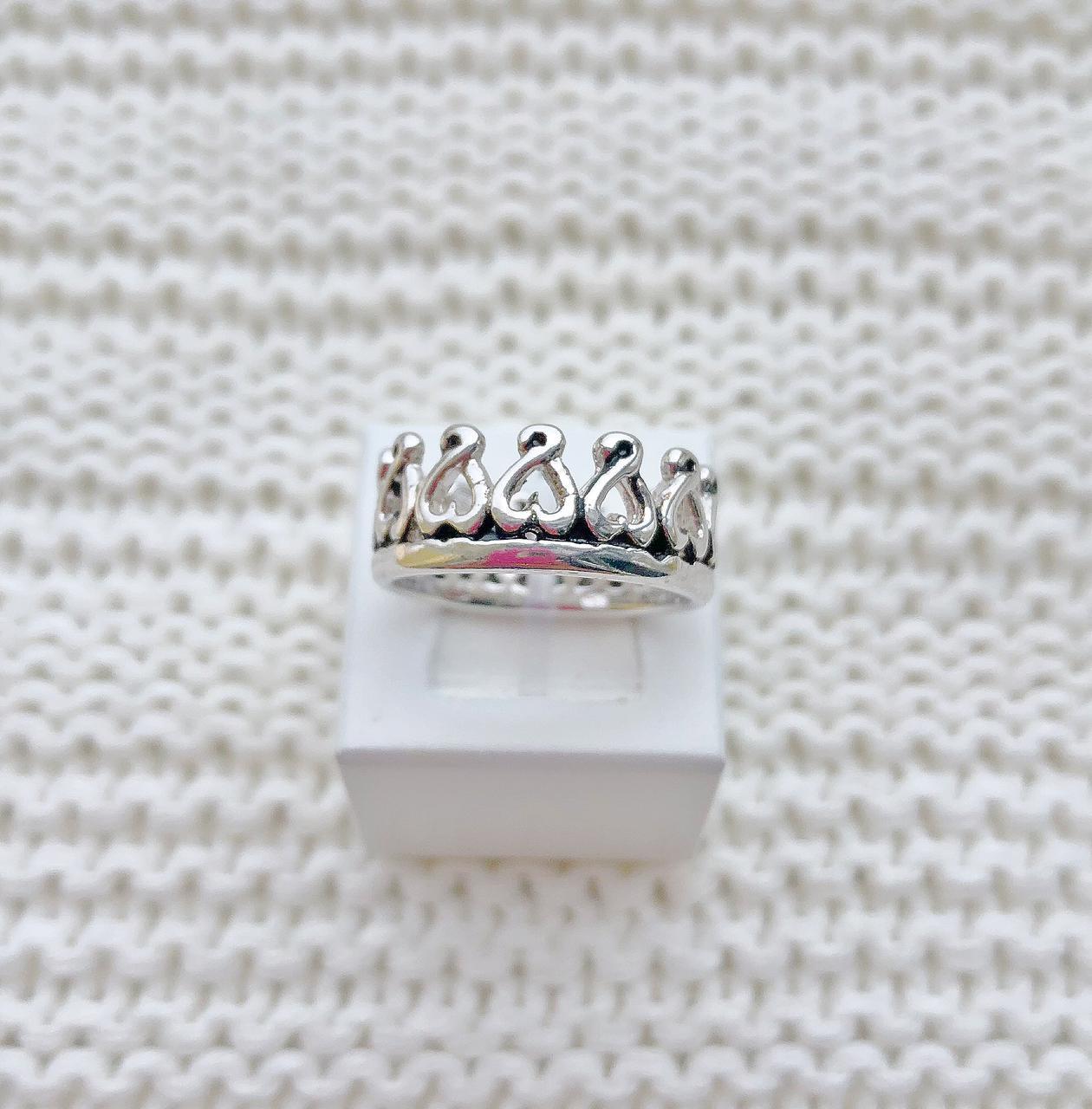 Anel Coroa Grande Envelhecida