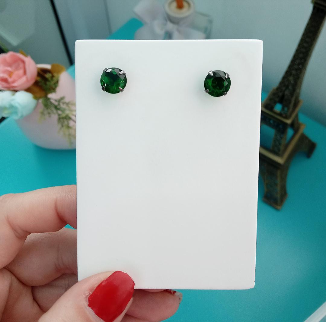 Brinco Funil Médio Verde Esmeralda
