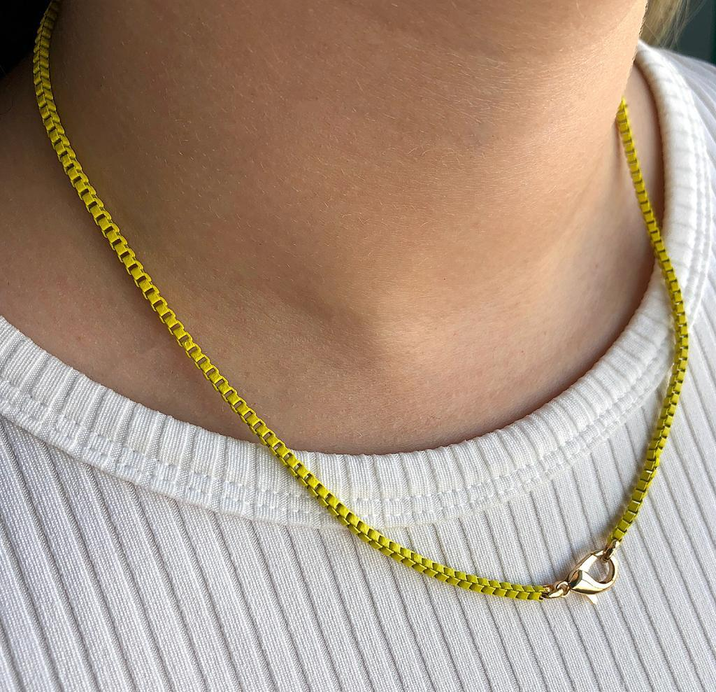 Colar Colors Veneziana Amarela