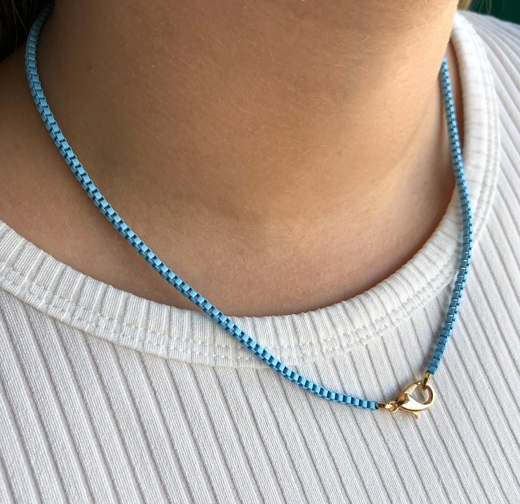 Colar Colors Veneziana Azul Claro